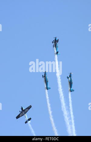 The four-ship aerobatic display team, The Blades, at the RAF Leuchars Air Show in 2012. - Stock Photo