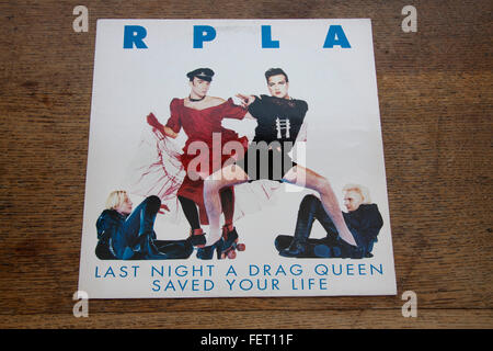 Cover of RPLA 12' single Last Night A Drag Queen SAved Your Life - Stock Photo