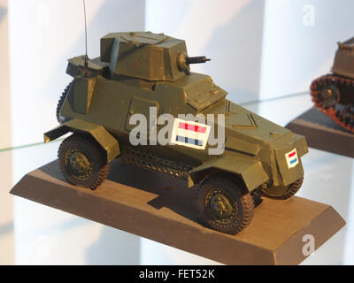 Model at the Dutch Cavalry Museum, Bernhardkazerne pic1 - Stock Photo