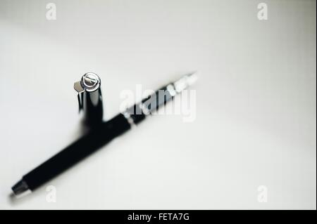 High Angle View Of Pen On Table - Stock Photo