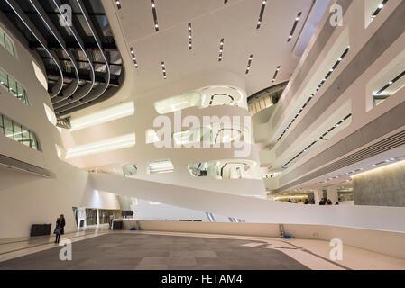 Interior, main building, Vienna University of Economics and Business, Vienna, Austria - Stock Photo