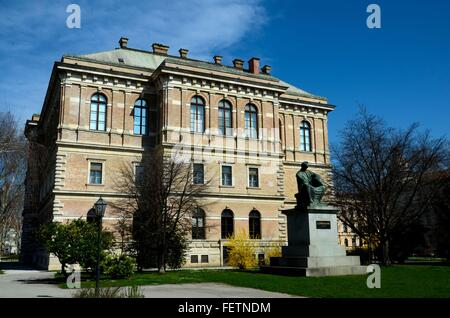 Strossmayer Square with statue of Catholic politician bishop Josip Strossmayer Zagreb Croatia - Stock Photo