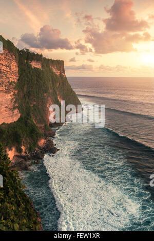 Uluwatu Temple in Bali on the rock. Indonesia. - Stock Photo