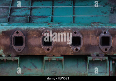 Boat engine block being worked on. - Stock Photo