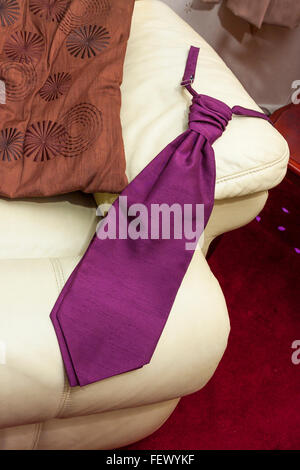 Tie on the sofa - Stock Photo