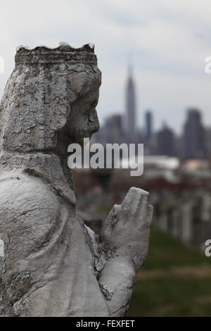 Close-Up Of Old Weathered Queen Sculpture - Stock Photo