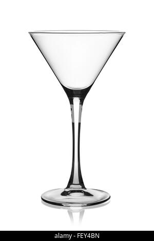 Empty martini glass isolated on the white background, clipping path included. - Stock Photo