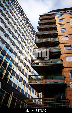 High rise offices and apartments in the city of Liverpool - Stock Photo