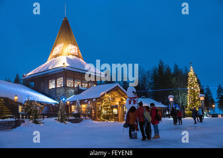 Rovaniemi, Lapland, Finland. 08th Feb, 2016. Santa Claus Village located at the Arctic circle in Rovaniemi, Lapland, - Stock Photo
