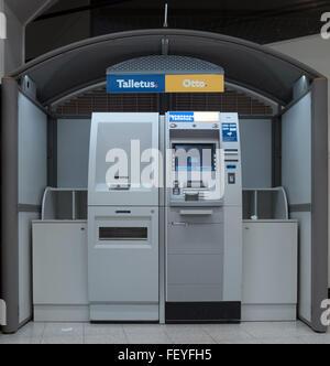 Rovaniemi, Lapland, Finland. 08th Feb, 2016. The Finnish cash machine 'TalletusOtto' in Rovaniemi, Lapland, Finland, - Stock Photo