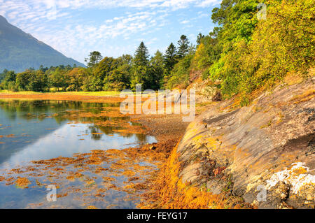 Bishops bay on Loch Leven, Ballachulish, West Highlands - Stock Photo