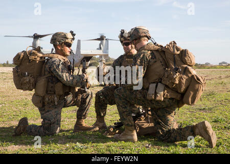 U.S. Marines with the Ground Combat Element, Special-Purpose Marine Air-Ground Task Force Crisis Response-Africa - Stock Photo