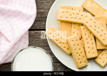top view of shortbread fingers - Stock Photo