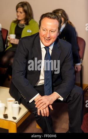 Ex UK Prime Minister David Cameron smiling. - Stock Photo