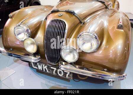 1951 Jaguar XK 120 Fixed-Head Coupe, Classic British Sports Car, UK - Stock Photo