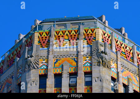New york buffalo historic art deco city hall with the for Bank ballroom with beautiful mural nyc