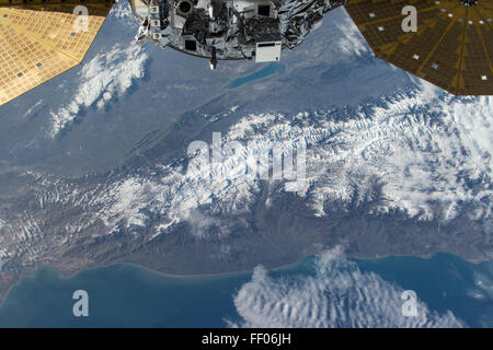 Earth observation taken from the International Space Station Earth observation taken from the International Space - Stock Photo