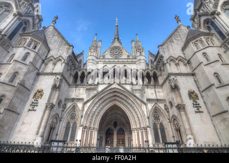 Royal Courts of Justice  High Court London - Stock Photo