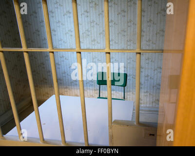Interrogation room in Hohenschoenhausen, a stasi prison in ddr times, now a museum and memorial. - Stock Photo