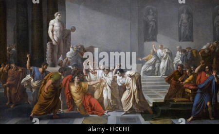 Rome. Italy.  Death of Caesar (1804–1805) by Vincenzo Camuccini (1771– 1844), GNAM National Gallery of Modern Art. - Stock Photo
