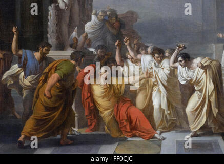 Rome. Italy.  Death of Caesar (c.1804–1805) by Vincenzo Camuccini (1771– 1844), GNAM National Gallery of Modern - Stock Photo