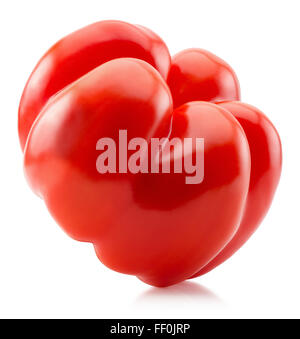 red pepper isolated on the white background. - Stock Photo