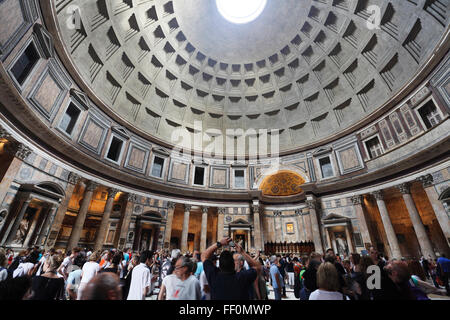The Pantheon on Piazza della Rotonda, Rome, Italy - Stock Photo