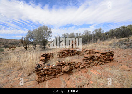 Arltunga Historical Reserve, Gold Rush Ghost Town, Northern Territory, Australia - Stock Photo