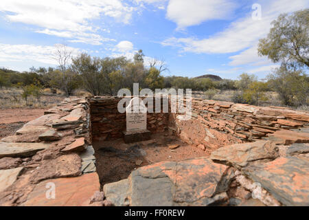 James Woodford's Grave, Arltunga Historical Reserve, Gold Rush Ghost Town, Northern Territory, Australia - Stock Photo
