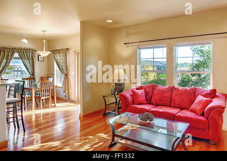 Sofa and coffee table in living room - Stock Photo