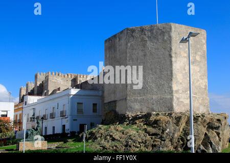 Castillo de Guzman el Bueno, Tarifa, Cadiz province, Spain - Stock Photo