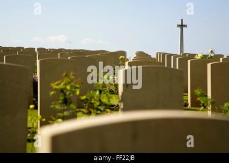 Commonwealth war cemetery, Anzio, Italy. - Stock Photo