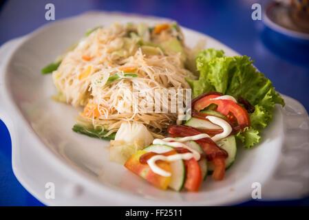 Burmese noodles, Pyin Oo Lwin (Pyin U Lwin), Mandalay Region, Myanmar (Burma), Asia - Stock Photo
