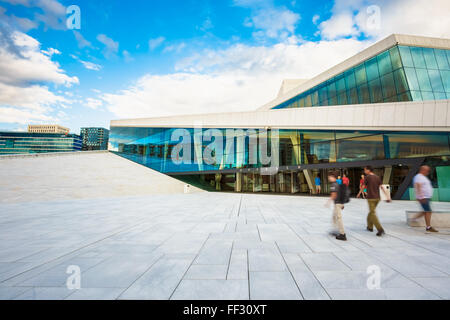 OSLO, NORWAY - JULY 31, 2014: The Oslo Opera House Is The Home Of The Norwegian National Opera And Ballet - Stock Photo