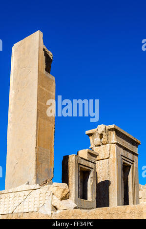 Tachara Palace of Darius at Persepolis, Iran - Stock Photo