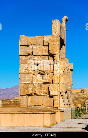 Details of the Gate of All Nations in Persepolis - Iran - Stock Photo