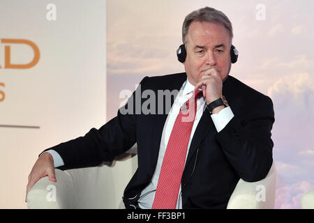 James Hogan, President and chief executive officer of Etihad Aviation Group and Vice Chairman of Alitalia  Roma - Stock Photo