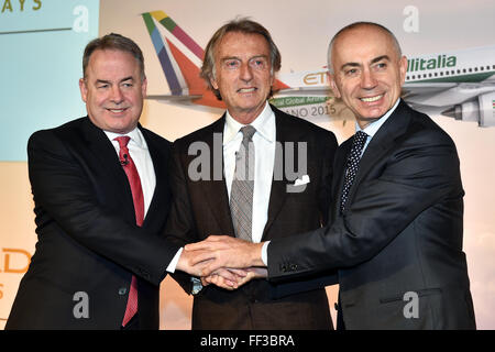 James Hogan, President and chief executive officer of Etihad Aviation Group and Vice Chairman of Alitalia, , Luca - Stock Photo