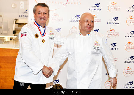 9th of february, Paris, France South Korea team won the Bakery World Cup 2016 in Paris-Nord Exhibition center of - Stock Photo