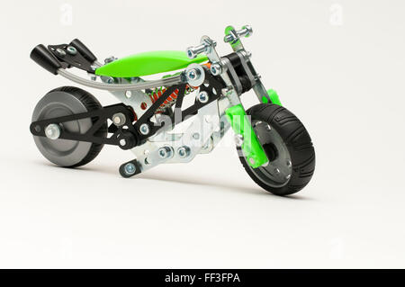 Product photography of a motorcycle model - Stock Photo