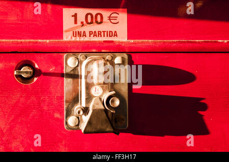 purse mechanism in a football table - Stock Photo