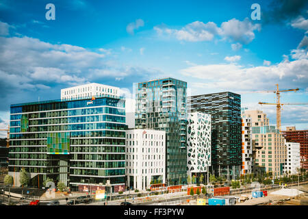 OSLO, NORWAY - JULY 31, 2014: View of Cityscape in Oslo, Norway. Summer Season - Stock Photo
