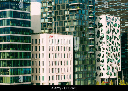 OSLO, NORWAY - JULY 31, 2014: View of modern architecture in the center of Oslo - Stock Photo