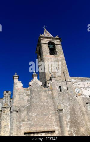 Church of Divino Salvador, Vejer de la Frontera, Cadiz Province, Spain - Stock Photo