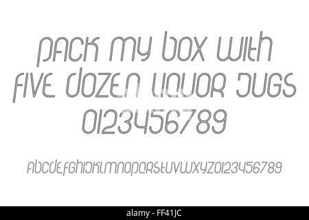 italic alphabet letters and numbers  vector font type design