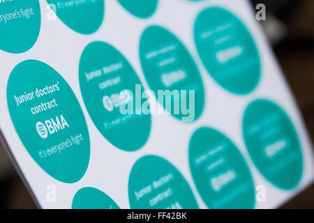 London, UK. 10th February, 2016.  Stickers. Carol Moir/Alamy Live News - Stock Photo