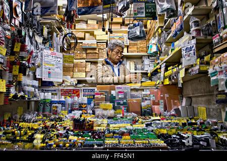 Japan, Honshu island, Kanto, Tokyo, electronics store. - Stock Photo