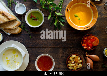 Tabletop food from above with space for copy - Stock Photo