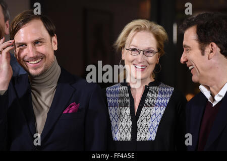 Berlin, Germany. 10th Feb, 2016. 66th International Film Festival in Berlin, Germany, 10 February 2016. The international - Stock Photo
