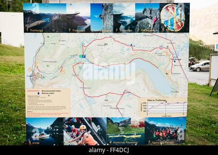 Trolltunga Trolls Tongue Rock Norway Stock Photo Royalty Free - Norway map 2014